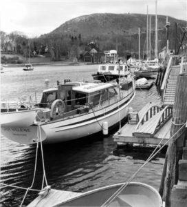 BERENICE ABBOTT Lady Helene in Camden Harbor, c. 1966 vintage silver gelatin photograph, 8 x 8 inches