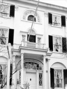 BERENICE ABBOTT Nickels-Sortwell House, Wiscasset, c. 1966 vintage silver gelatin photograph, 10 x 8 inches