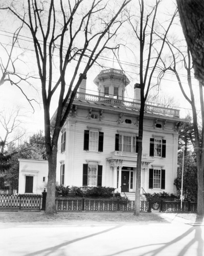 BERENICE ABBOTT Official Residence of the President of Bowdoin College, c. 1966, vintage silver gelatin photograph, 8 x 10 inches