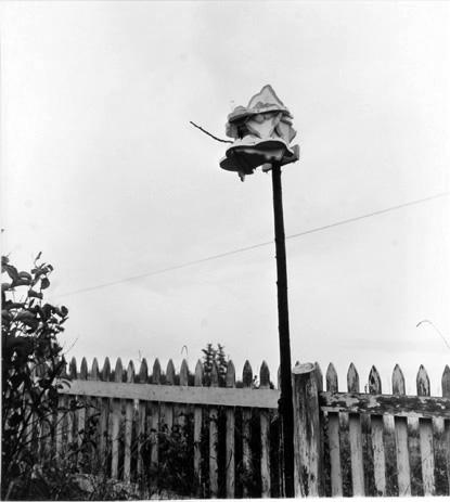 BERENICE ABBOTT Whimsical Birdhouse, c. 1966, vintage silver gelatin photograph, 8 x 10 inches