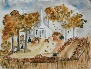 CHENOWETH HALL Untitled T.2.67.2001 watercolor, 16 x 20 inches