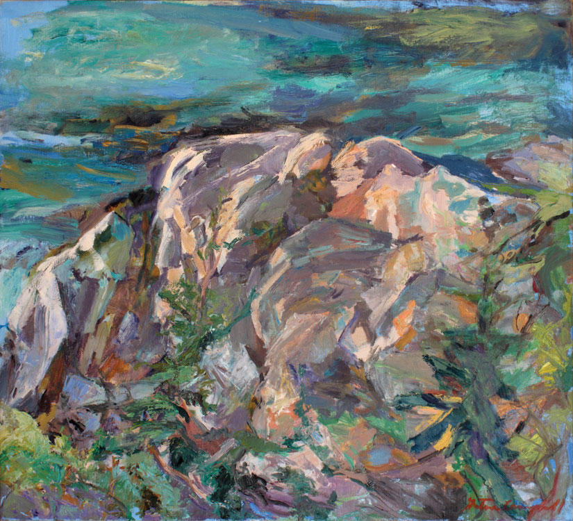 GRETNA CAMPBELL Back Shore Sunset, 1984, oil on canvas, 38 x 42 inches
