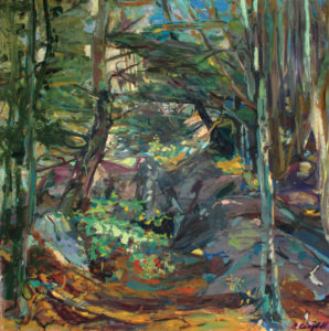 GRETNA CAMPBELL Dark Woods, 1982 oil on canvas, 42 x 42 inches