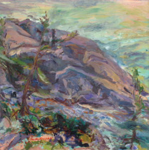 GRETNA CAMPBELL From the Path, Great Head, 1984 oil on canvas, 42 x 42 inches