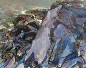 GRETNA CAMPBELL Looking Down II, 1985 oil on canvas, 28 x 35 inches
