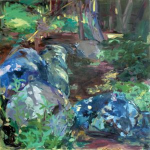 GRETNA CAMPBELL Blue Rocks, 1976 oil on canvas, 50 x 50 inches $29,000