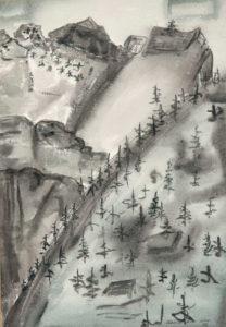 CHENOWETH HALL Yosemite watercolor, 19.5 x 13.5 inches $2000