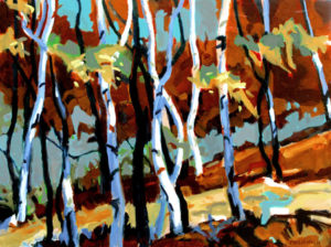 PHILIP KOCH Light in the Forest oil on canvas, 18 x 24 inches $3500