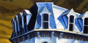 PHILIP KOCH Mansard Roof oil on canvas, 22 x 44 inches