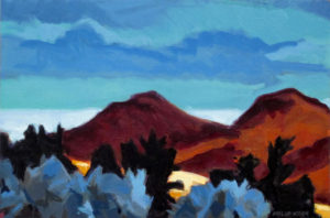 PHILIP KOCH Mountains: Rust oil on canvas, 10 x 15 inches