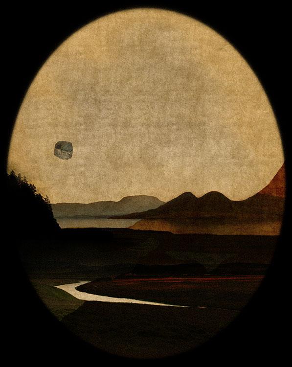 LILIAN DAY THORPE Acadia Arcadia I, digital montage, 10 x 12.5 inches