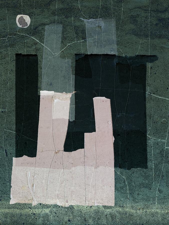 LILIAN DAY THORPE Hudson No. 1, digital montage, 5.9 x 4 inches