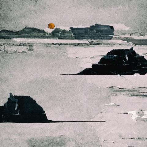 LILIAN DAY THORPE Orange Sun, digital montage, 12 x 12 inches