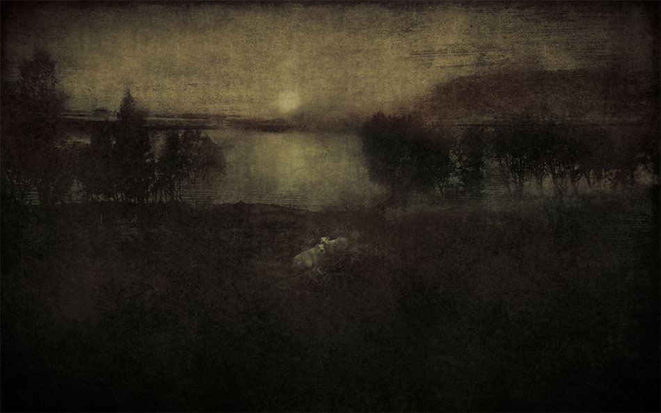 LILIAN DAY THORPE Two Sheep, digital montage, 10 x 16 inches