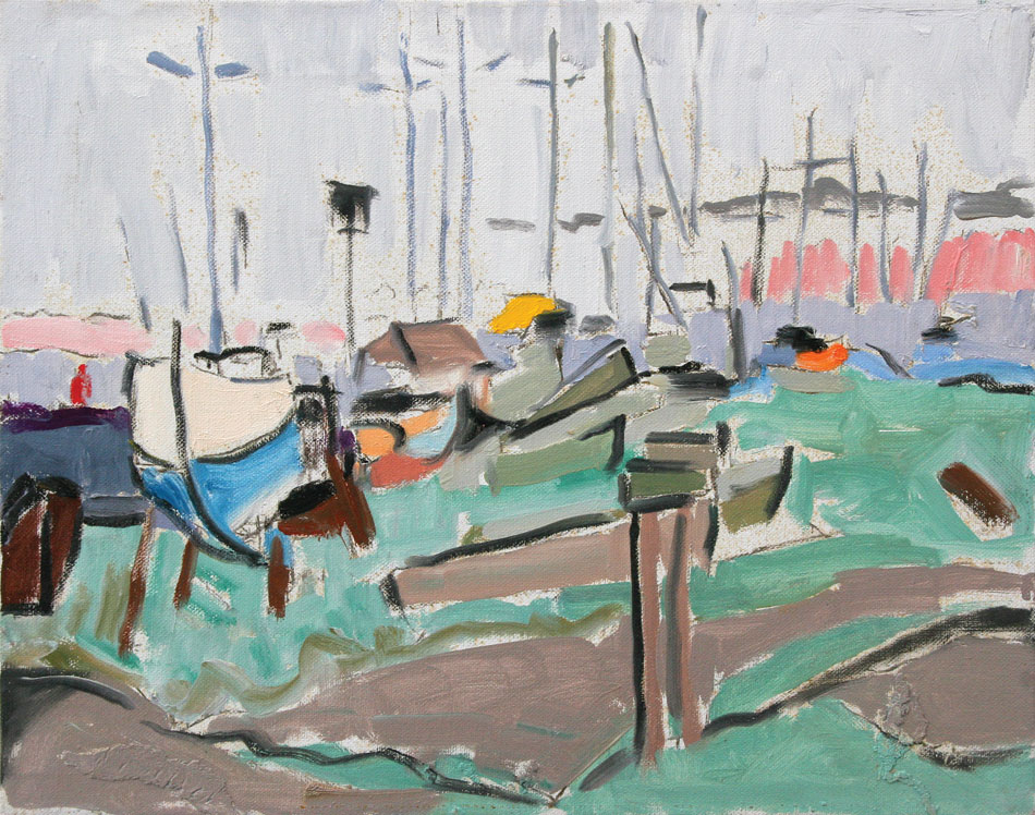 PATRICK MCARDLE Basin Point, South Harpswell, oil on canvas, 16 x 20