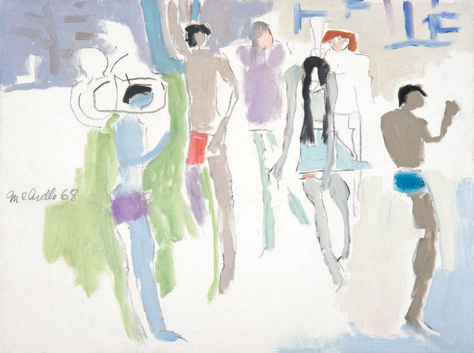 PATRICK MCARDLE Grey Bathers, oil on canvas, 18 x 24
