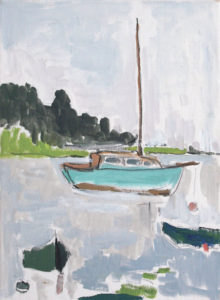 PATRICK MCARDLE Our Sailboat oil on canvas, 20 x 16