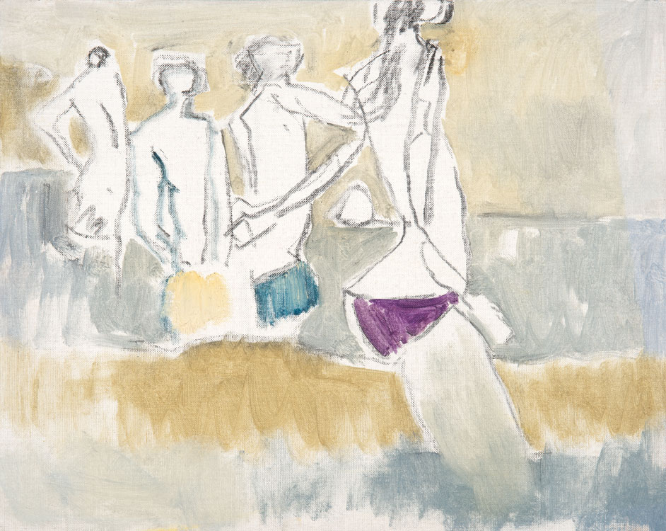 PATRICK MCARDLE Speedos, oil on canvas, 16 x 20
