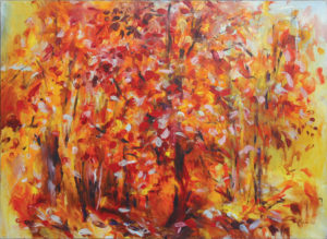 WILLIAM MOÏSE Flaming Autumn oil on canvas, 24 x 36 inches