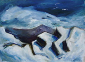 WILLIAM MOÏSE Ice At Schoodic oil on canvas, 28 x 38 inches $4200