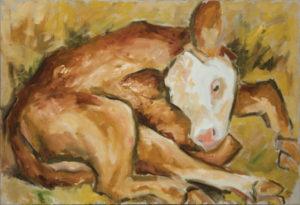 WILLIAM MOÏSE Newborn oil on canvas, 24 x 36 inches