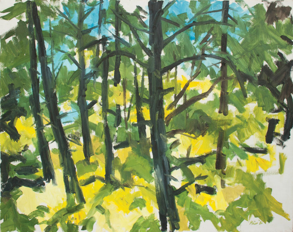 WILLIAM MOÏSE Tree Pattern, oil on canvas, 24 x 36 inches