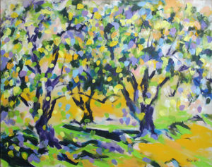 WILLIAM MOÏSE Yellow Orchard oil on canvas, 32 x 40 inches