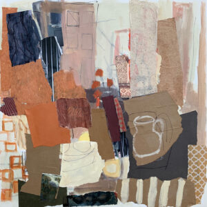 ROSIE MOORE Domesticity mixed media on canvas, 30 x 30 inches $5000