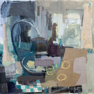 ROSIE MOORE Neutral Interior mixed media on canvas, 30 x 30 inches $5000