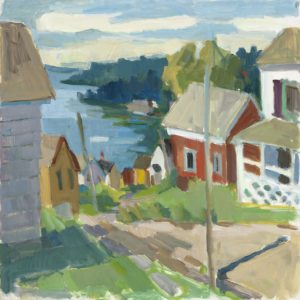 ROSIE MOORE Road to the Bay oil on canvas, 30 x 30 inches $3800