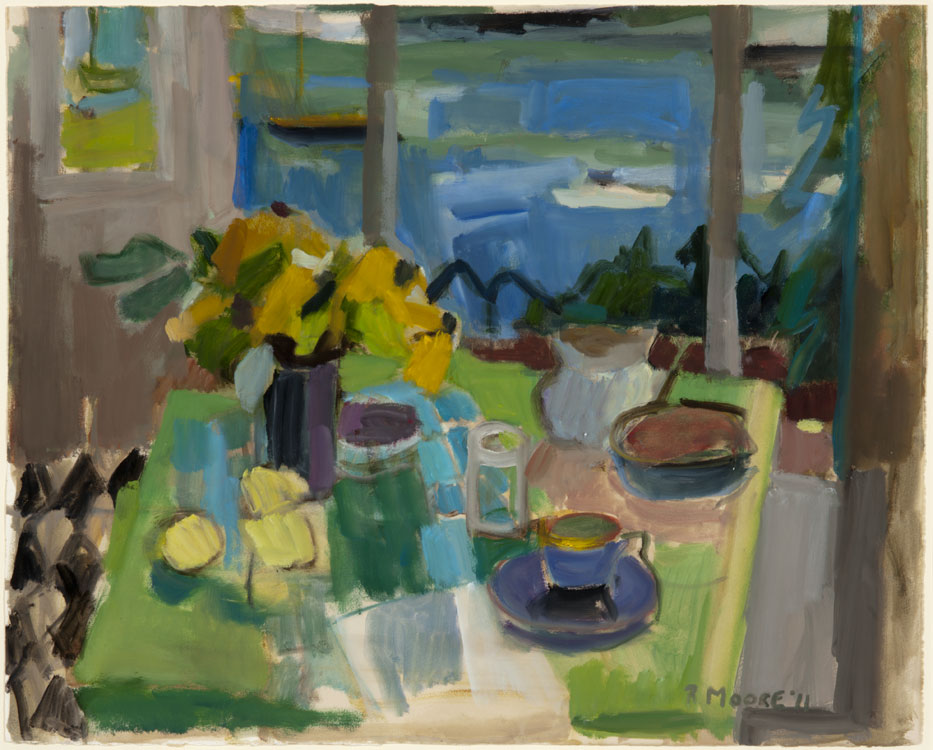 ROSIE MOORE Summer Blues, 2012, oil on paper, 24 x 30 inches