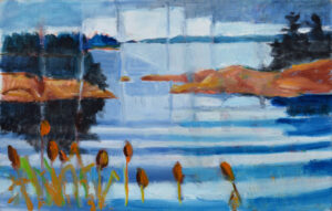 EMILY MUIR Cattails oil on canvas, 18 x 22 inches