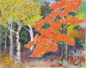 EMILY MUIR Autumn Trees oil on canvas, 18 x 22 inches