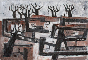 EMILY MUIR Strange Trees oil on canvas, 21 x 30 inches