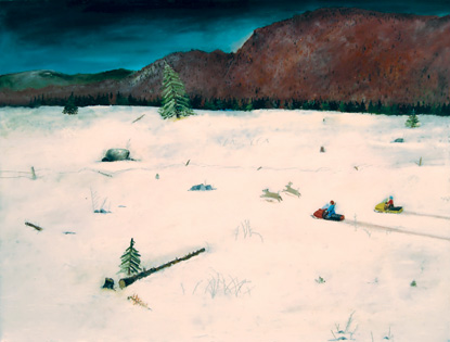 ED NADEAU Percival's Land, 1987, oil on canvas, 32 x 42 inches