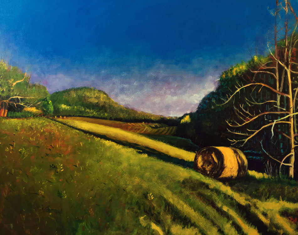 ED NADEAU Summer Landscape, Rome, Maine, oil on canvas, 32 x 40 inches