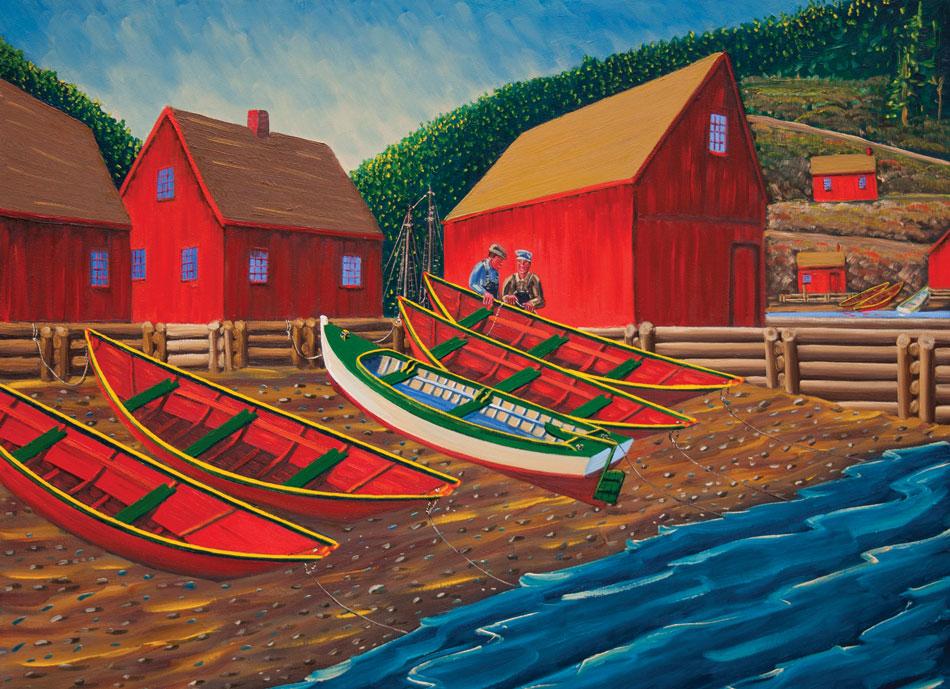 JOHN NEVILLE Four Red Dories