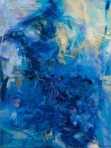 LINDA PACKARD Blue Persuassion oil on panel, 40 x 30 inches