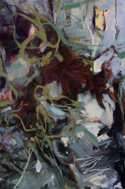 LINDA PACKARD My Spirit Leaps, oil on canvas, 30 x 20 inches