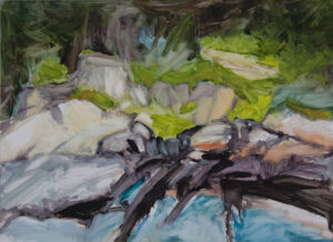 LINDA PACKARD These Rocks, They Whisper oil on yupo paper, 19 x 25 inches $2400
