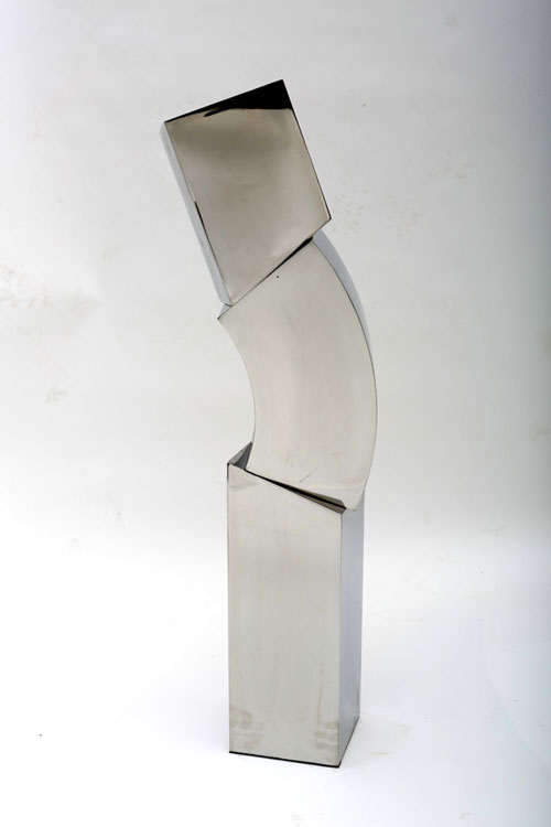 STEPHEN PORTER Cube Column 15, stainless steel, 46 x 16 x 10 inches