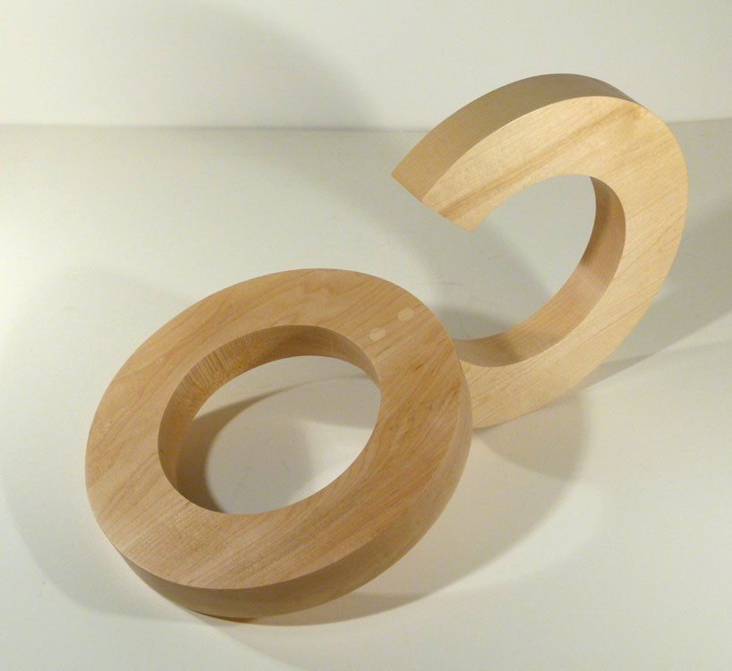 STEPHEN PORTER New Circle 3, maple, 11 x 19 x 11 inches
