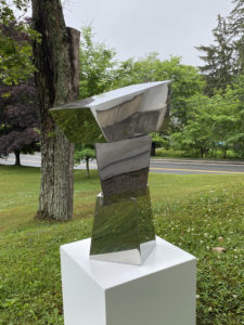 STEPHEN PORTER Tee 5 stainless steel, 28h x 16 x 12 inches $3800