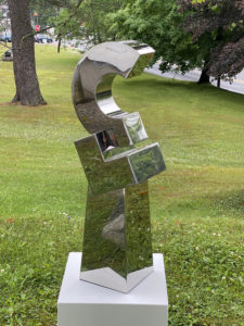 STEPHEN PORTER Untitled Circle 1 stainless steel, 35h x 12 x 8 inches $5000
