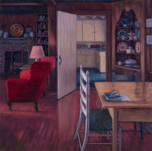 ALISON RECTOR Garnet in The Gloaming oil on linen, 30 x 30 inches $5500