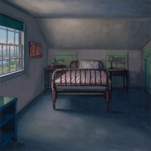 ALISON RECTOR How the Light Gets In oil on panel, 14 x 14 inches $2500