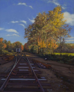 ALISON RECTOR Infinity Track oil on linen, 23 x 29 inches $5000