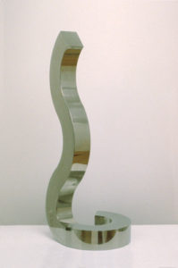 STEPHEN PORTER Curves 2.6. stainless steel, 33 x 12 x 12 inches