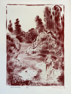 KARL SCHRAG Summer Day lithograph, 14 x 10 inches $950