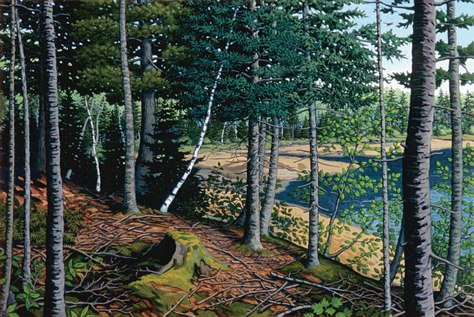 ROBERT SHILLADY Herrick Bay Cove, acrylic on canvas, 20 x 30 inches